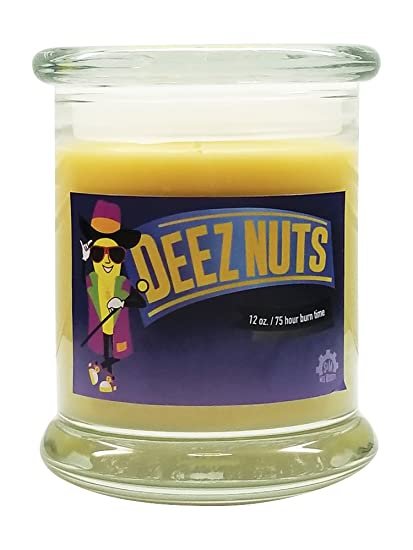 amazon com deez nuts natural scented soy wax 12oz candle