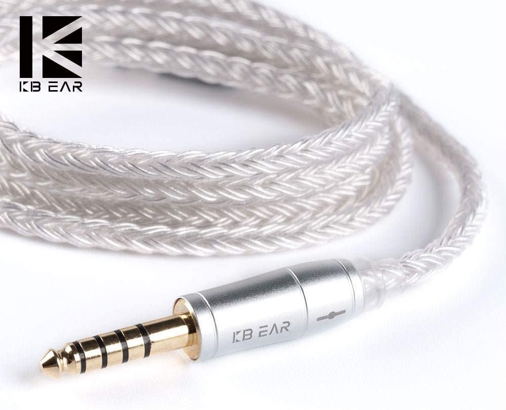 KBEAR 16 Core Silver Plated Copper High Purity Copper Hybrid Braided Upgrade in Ear Earphone Cable(MMCX 3.5mm)
