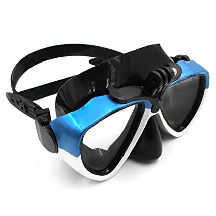 TELESIN Silicone Diving Glass With Detachable Screw Mount Diving Mask Scuba Snorkel Swimming Goggles