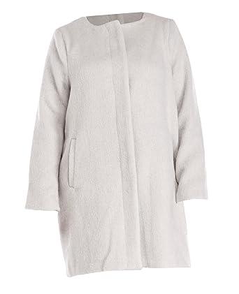 62c1c1c6787 BB Dakota Women s Plus Size Cassady Collarless Wool Blend Coat (Dove Grey
