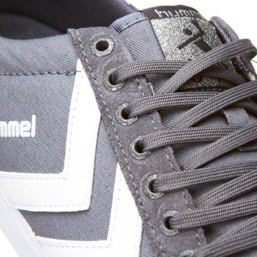 Hummel Slimmer Stadil Canvas Lo Grau Weiß Neu Herren Sneaker Schuhe Stiefel