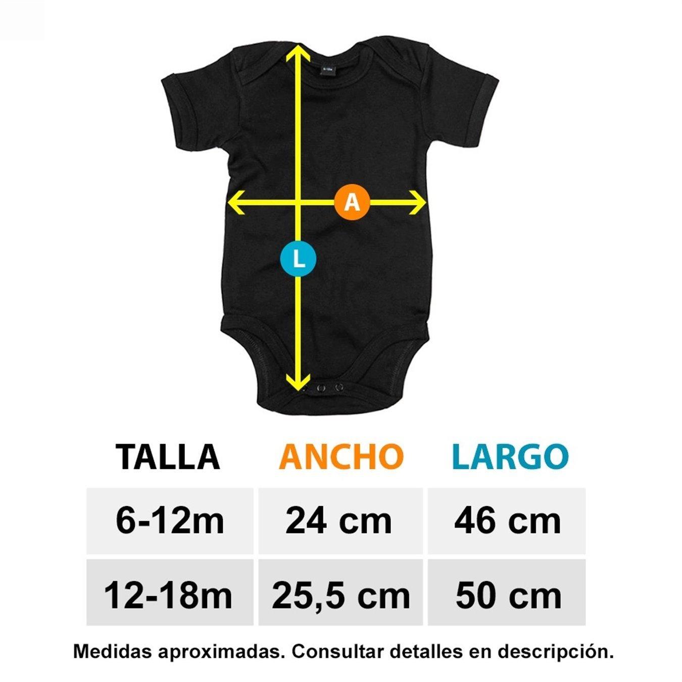 6-12 meses Body beb/é nacida para ser Colchonera Atl/ético f/útbol Amarillo