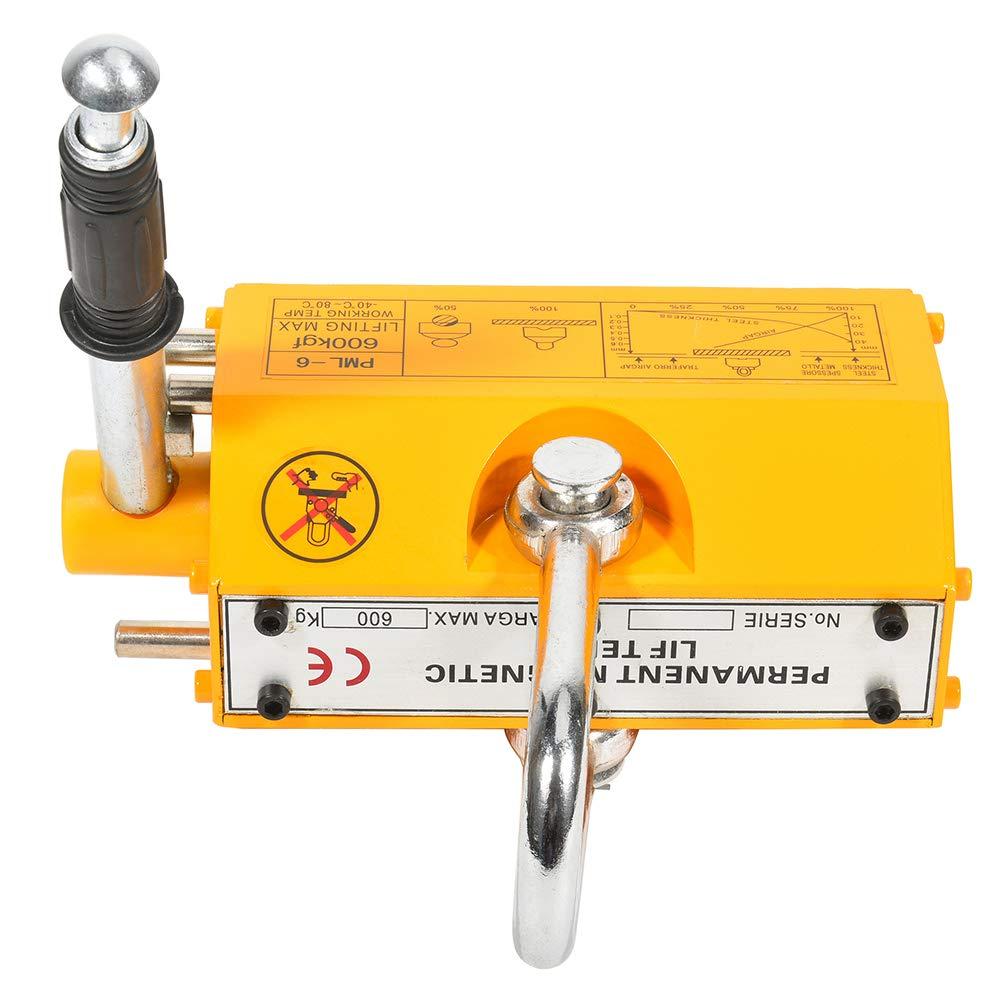 CTCAUTO 600 KG Industrial Steel Magnetic Lifter Crane Hoist Lifting Magnet 1320lb