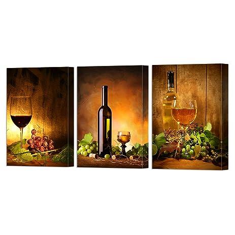 Amazon.com: VVOVV Wall Decor - Framed Art Prints Grape And Wine ...