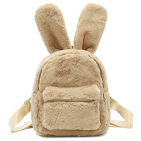 700f33983fb Donalworld Women Bunny Rabbit Backpack Purse Snack Bag Travel Shoulder Bag  Bg