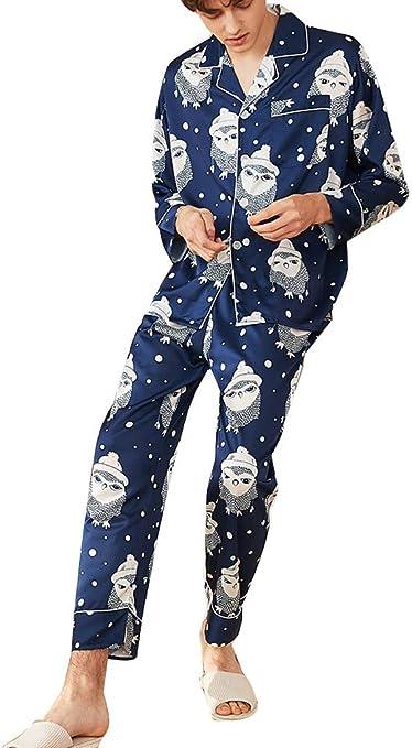 Runyue Pijama para Hombre Elegante Camisones Satin Modelos de ...