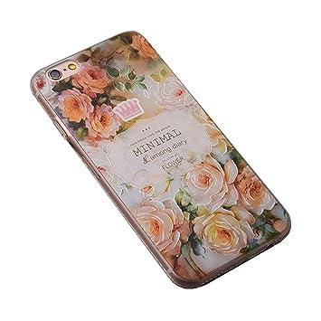 Weiches Transparentes TPU Silikon Schutzhülle Case Für Apple IPhone 7 Plus  Retro Die Pfingstrose