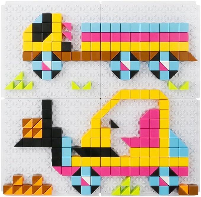 Kaist Mosaique Pour Les Garçons Avec 6 Modèles Dengins De Construction 420 Pièces De Formes Géométriques Différentes