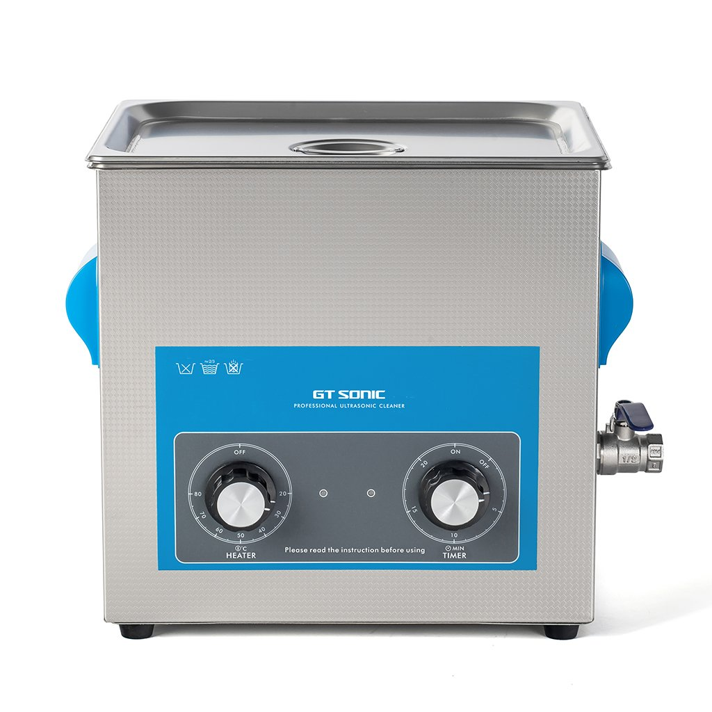 GT 3L Ultrasonic Cleaner, Stainless Steel Ultrasonic Cleaner Transducer Heater 40 KHz Adjutable Ultrasonic Cleaning Machine with 0-20 Minutes Timer Setting Oxford Street