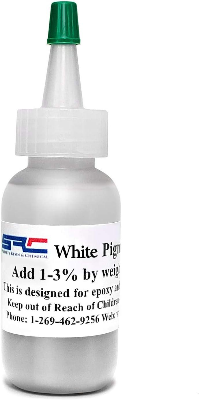 Pigmento blanco o tinte colorante para resina epoxi y poliuretano 1 onza