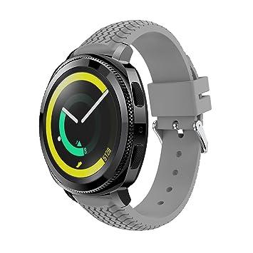 Gosuper para Samsung SM-R600 Gear Sport Correa,20mm Ancho Silicona suave deporte Rápido Lanzamiento Replacement Bracelet para Samsung Gear S2 Classic ...