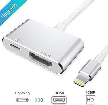 Adaptador HDMI para teléfono, adaptador AV digital 1080P para ...