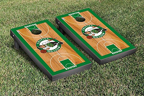 Boston Celtics NBA Basketball Regulation Cornhole Game Set Basketball Court Version by Victory Tailgate