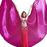 HANERDUN Women Professional Belly Dance Costume Angle Isis Wings with Stick