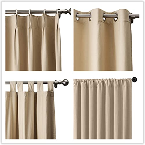 TWOPAGES Liz Linen Blackout Curtain Room Darkening Linen Curtains Drapery Panel