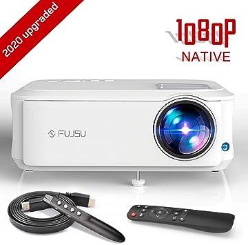 Proyector, FUJSU 6500 Lúmenes Proyector Full HD 1920 x 1080P ...