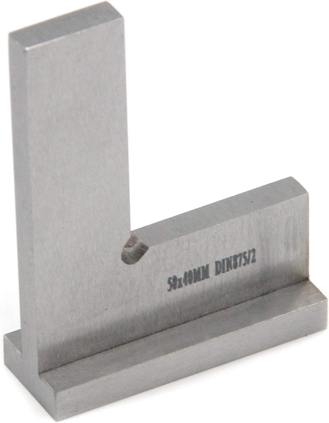 Tulead Machinist Square Precision Square Woodworking Square Right Angle Engineer Square 50x40mm/2