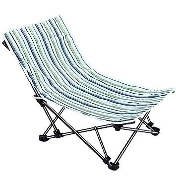 Gjrff Silla Plegable Silla De Playa Plegable Al Aire Libre ...