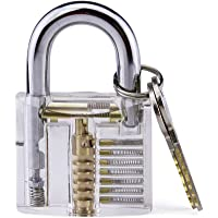 LSHI Practice Lock, Transparent Cutaway Practice Lock for Fun