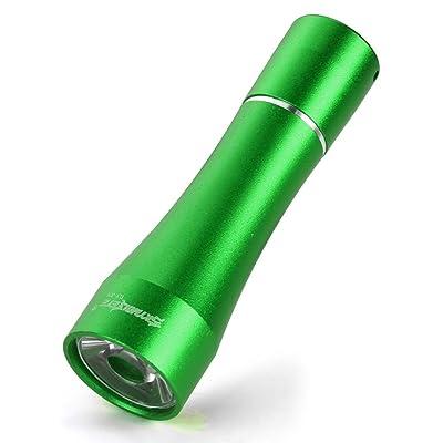 PIEBO Mini Lampe de poche,Skywolfeye 1 W 1-mode en alliage d'aluminium LED Lampe de poche torche Mini tactique léger pour pile AA (vert)