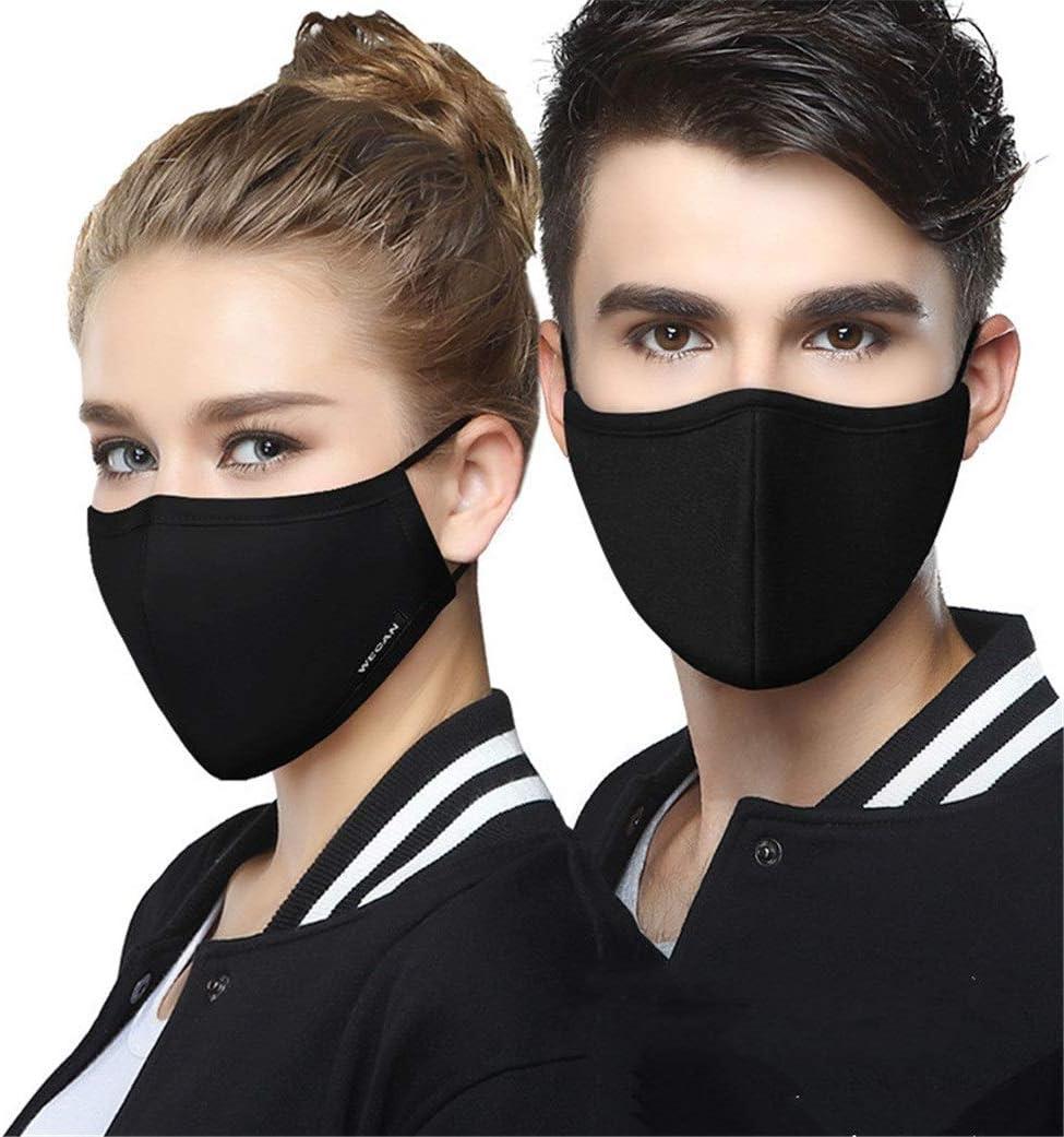 LIBILAA Anti-Niebla y la m/áscara Tridimensional Negro PM2.5 a Prueba de Polvo del algod/ón del Verano for Adultos Montar Protector Solar y Transpirable Color : 1 Mens Type