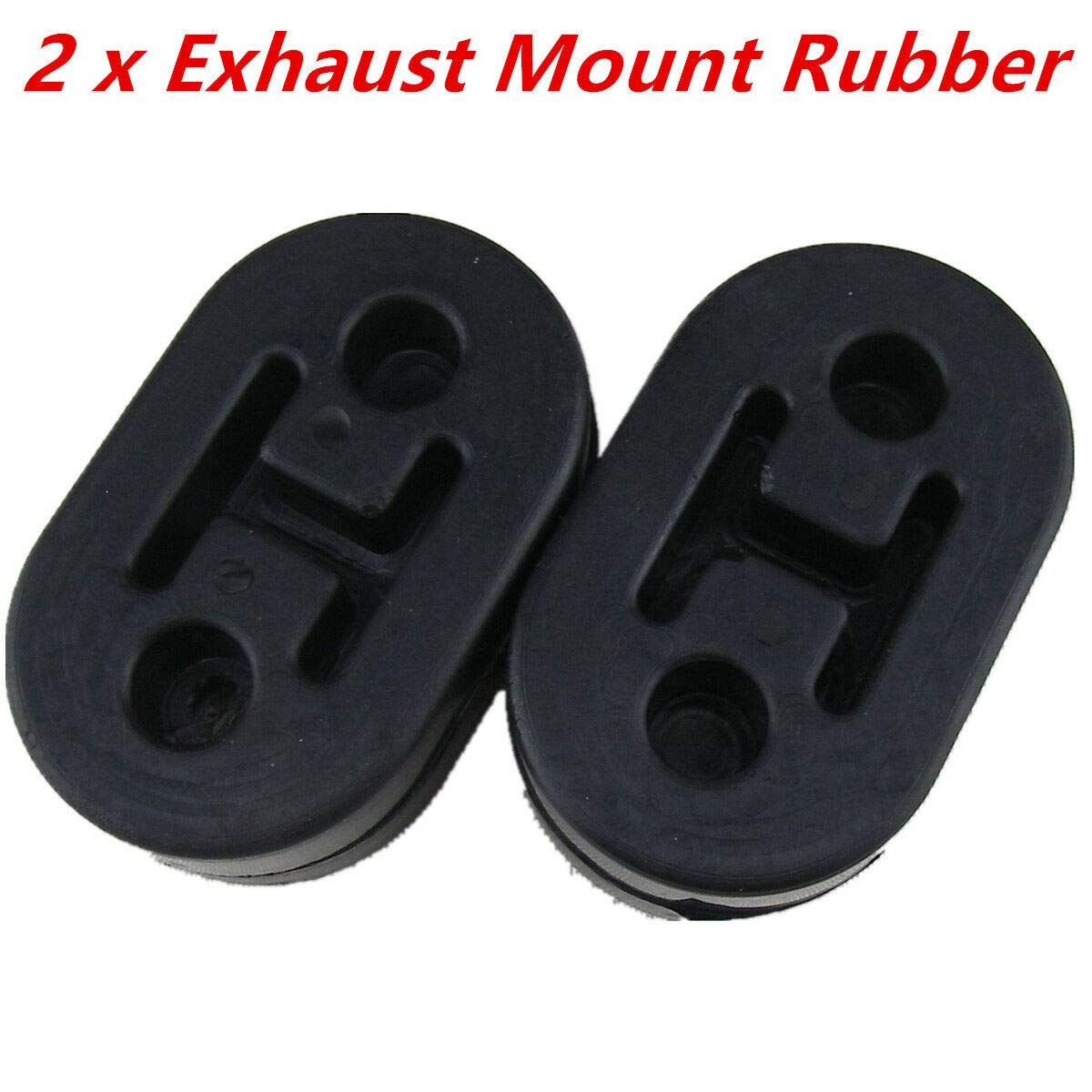 FidgetGear 2x Universal Exhaust Mount Repair Hanger Bracket Heavy Duty Rubber Replacements