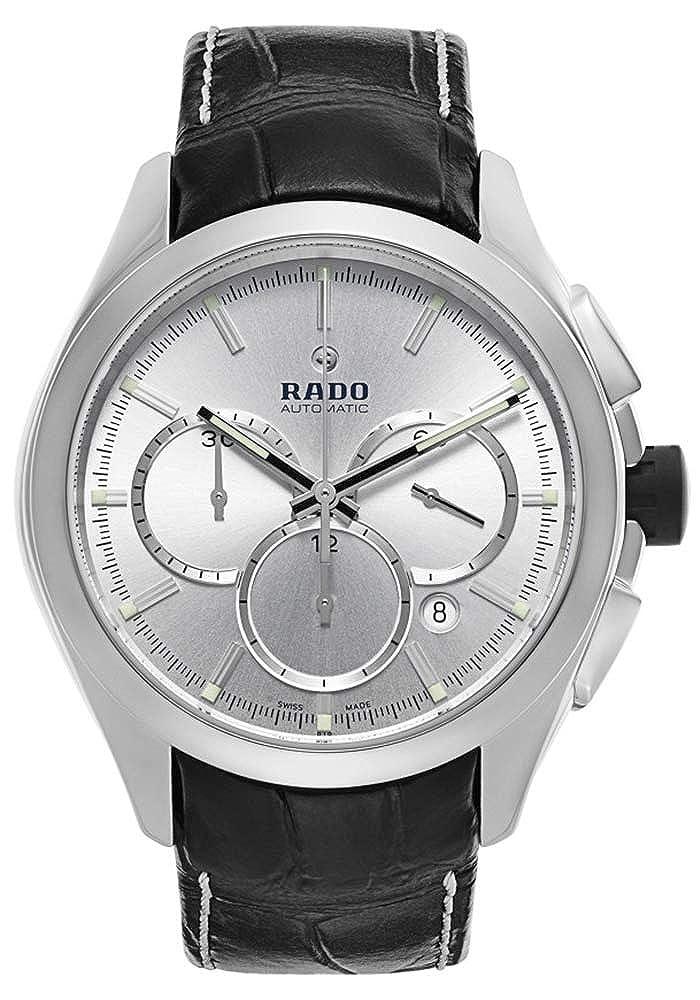 Rado HyperChrome Ceramic Plasma Automatic Chronograph Silver Dial Men's Strap Dress Watch Calendar R32276105