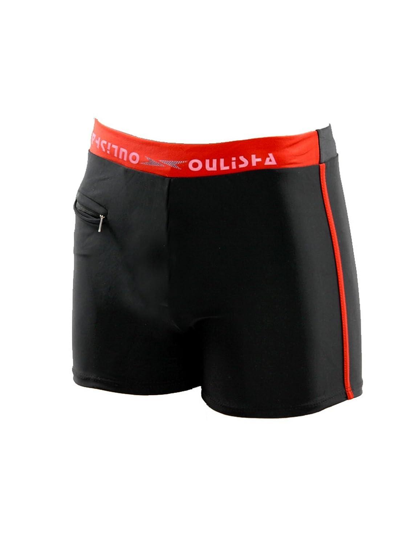 Bestgift Men's Square Leg Swimming Trunks with Zipper Pocket BSGFSH0165