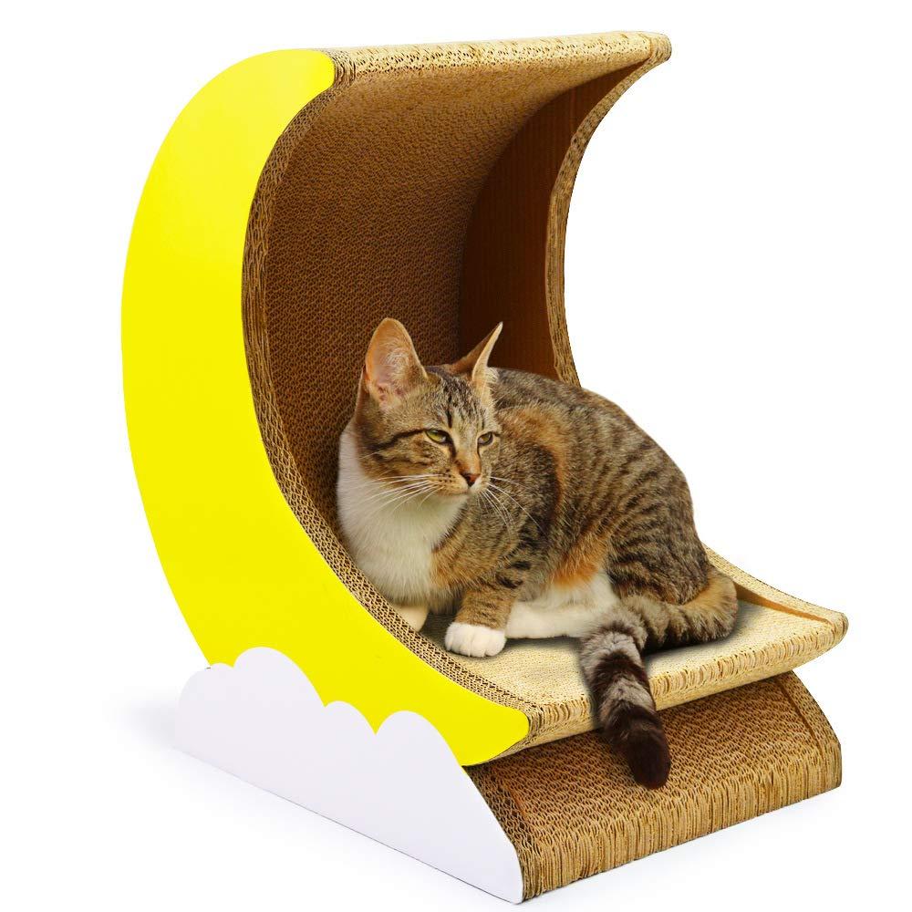 Aida Bz Corrugated Paper Cat Playing Board Cat Litter Cat House Cat Bowl Moon Type Cat Scratch Board