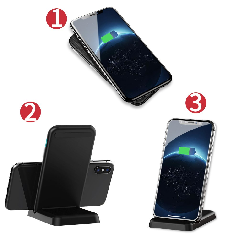 Wireless Charger, Sledge 15W qi Wireless Charger for Samsung iPhone Fast Wireless Charging Stand Qi-Certified 7.5W for iPhone X XS MAX XR, 10W Galaxy ...