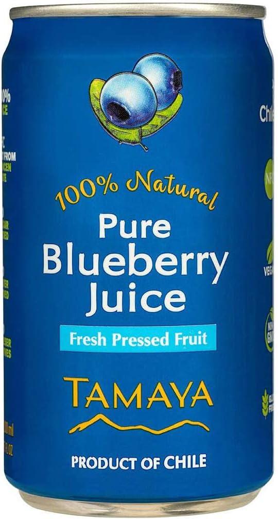 TAMAYA 100%ブルーベリージュース 200ml x 6本セット グルテンフリー 無添加