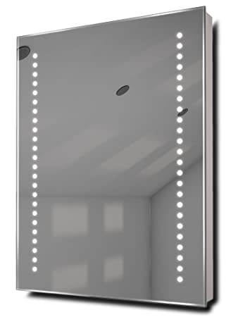 Illuminated Mirrors Diamond Shaver LED Bathroom Mirror with Demister Pad  and Sensor  Silver. Illuminated Mirrors Diamond Shaver LED Bathroom Mirror with