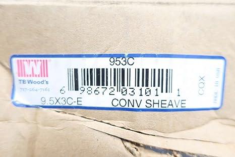 TB WOODS 9.0 X 3C-E CONV SHEAVE
