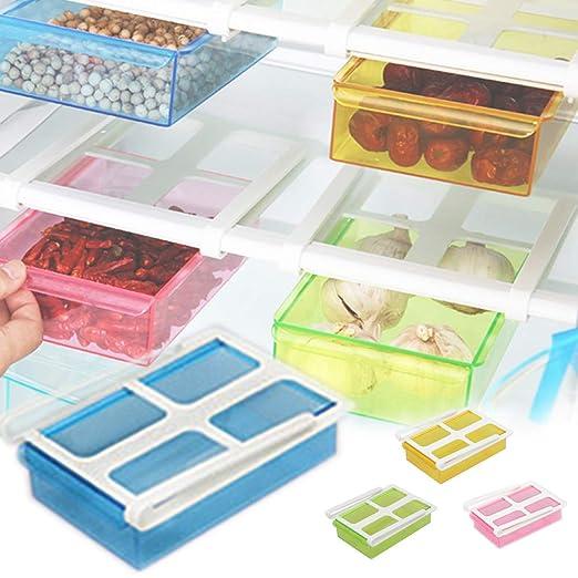 EFGS Cocina Plástico Refrigerador Almacenamiento Estante, Portátil ...