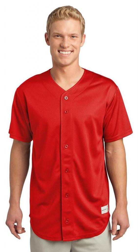 Sport-Tek SHIRT メンズ B00PCRJAOI M|レッド(True Red) レッド(True Red) M