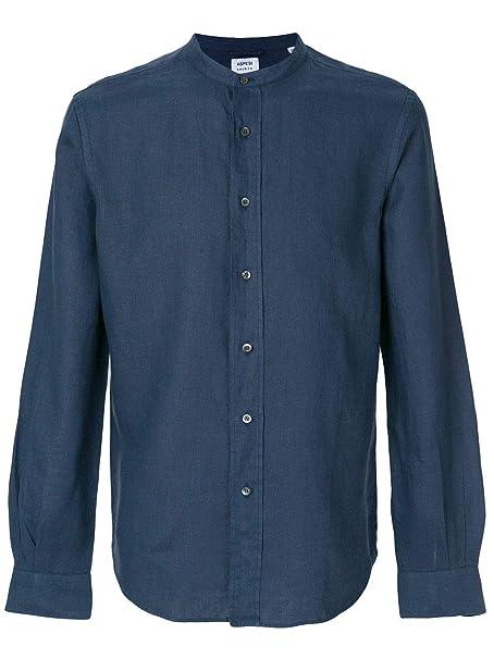 170c05316f ASPESI Camicia Uomo CE76C19585091 Lino Blu: Amazon.it: Abbigliamento