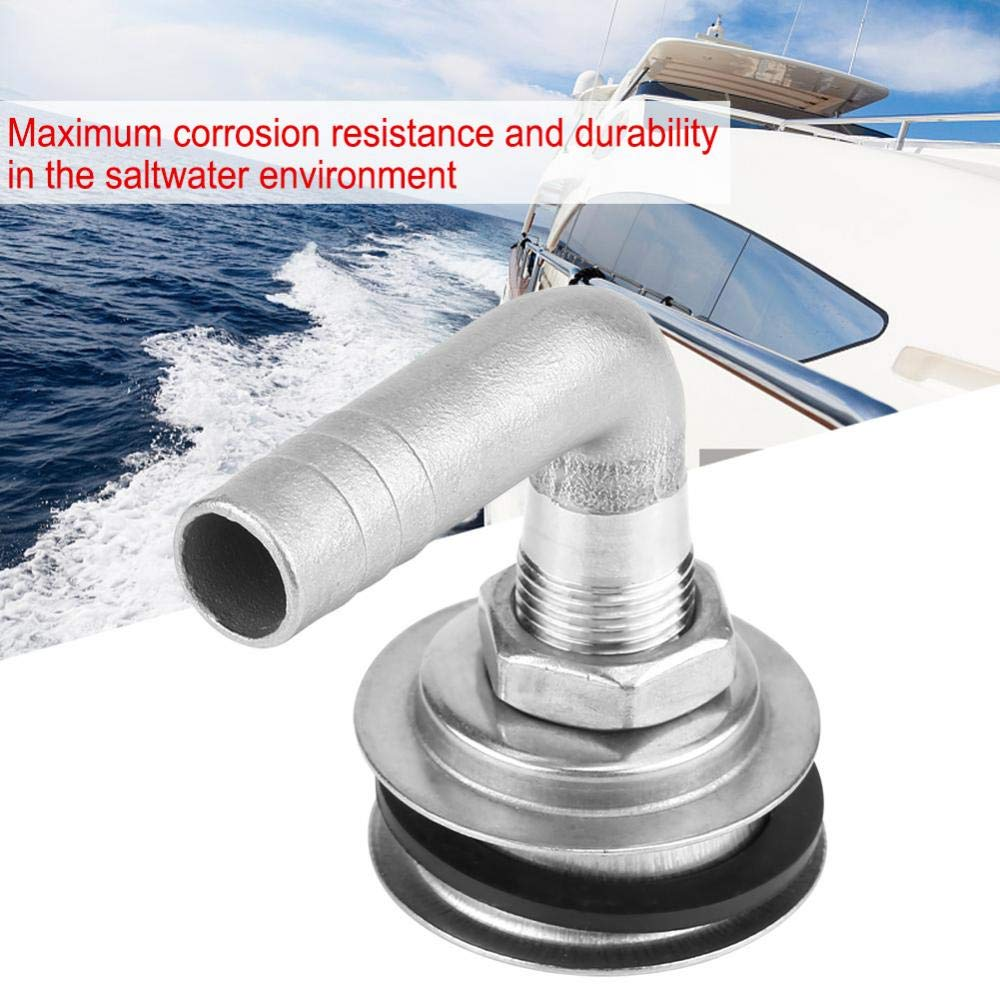 90/°Stainless Steel Marine Boat Flush Mount Oil Fuel Gas Tank Vent for 5//8 Hose Fuel Gas Tank Vent