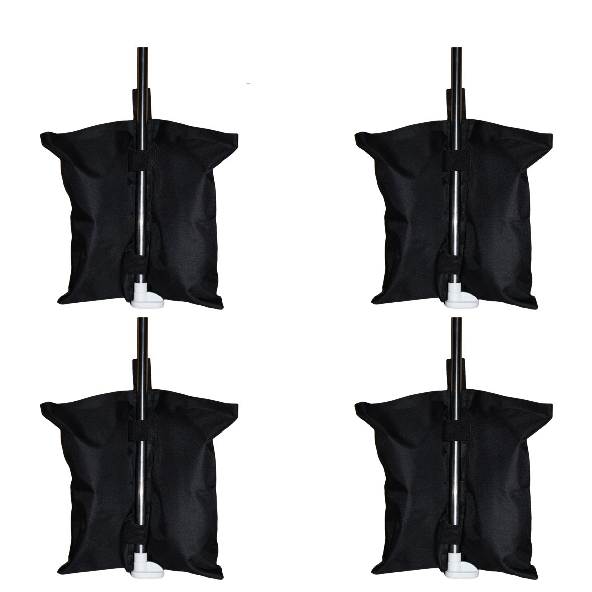 4pcs/pack Industrial Grade Heavy Duty Double-Stitched 17-inch Sand Bag Anchor Kit Gazebo Tent Leg Weight Bag for Pop up Canopy Tent Weighted Feet Bag