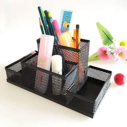 4d94a3e7d1e2 Organizer Accessories - Metal Box Pen Holder Office Home Holding ...