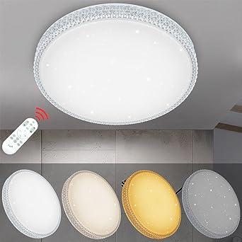 VINGO® 60W LED Deckenleuchte Dimmbar Starlight-Design Wandlampe ...
