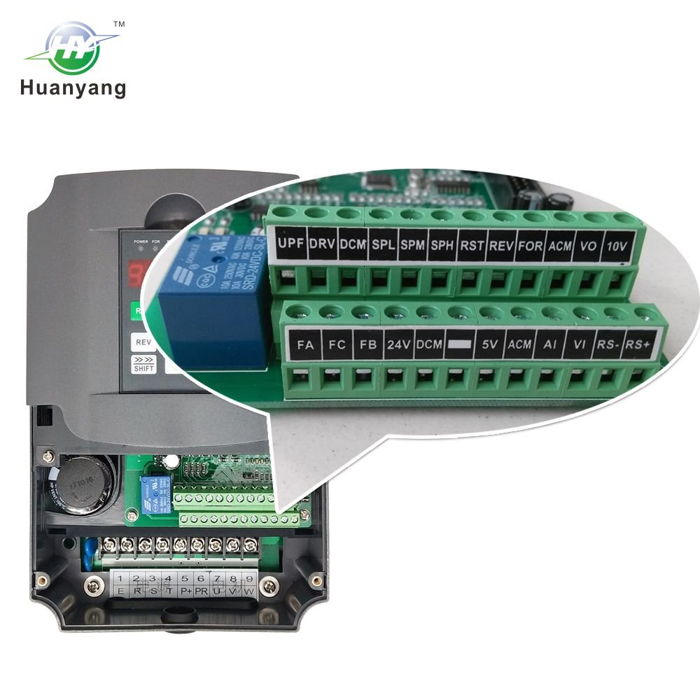 Vfd 220v 55kw 75hp Variable Frequency Drive Cnc Motor Wiring Diagram 3 Position And Two Phase Vfds Inverter Converter For Spindle Speed Control Huanyang Hy Series55kw
