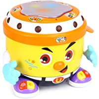 Fisca Baby Musical Drum Toys, Learning Educational Toy for Baby & Toddler - Electronic Drum Instruments Set with Lights…