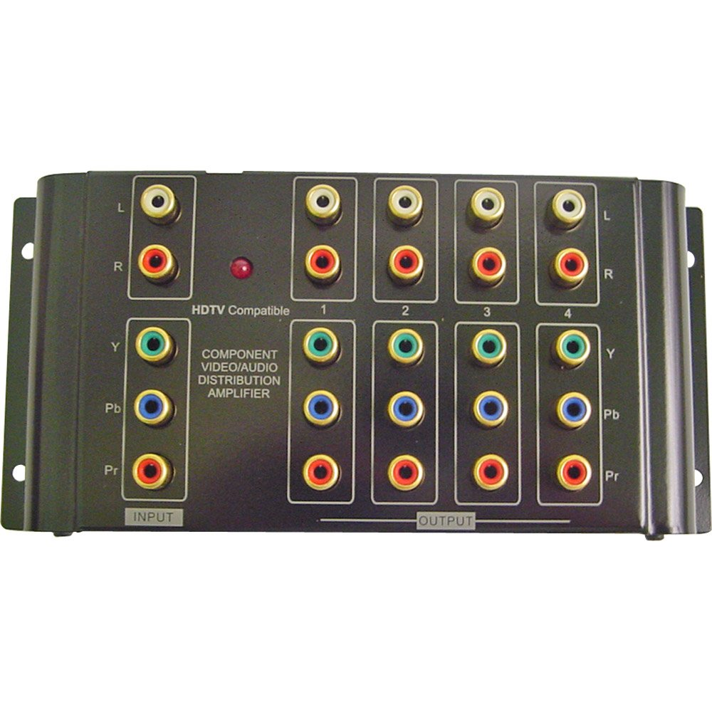 Calrad 40 937b 1 X 4 Component Stereo Audio Distribution Video Amplifier Home Theater