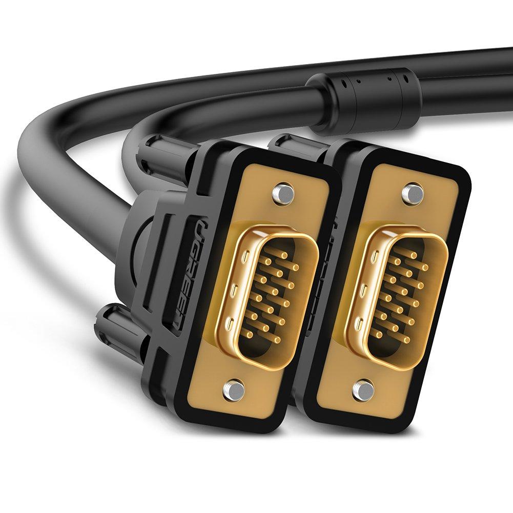 UGREEN Cable VGA a VGA, Cable VGA Macho a Macho 15 Pin HD15 Cable D-Sub 15 de 1920x1200 WUXGA/UXGA /WXGA/XGA /SVGA para Monitor,Ordenador,Proyector ...
