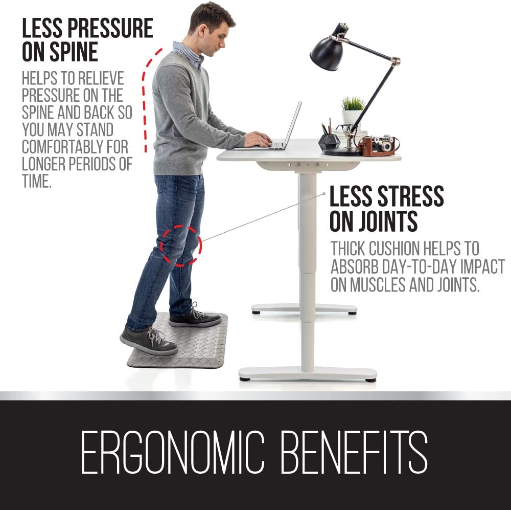 Commercial Grade Phthalate Free Ergonomically Engineered Extra Support Floor Pad for Kitchen Brown Office Standing Desk Mats Ninja Brand Premium Anti-Fatigue Comfort Mat Gaming 20x39 Inch