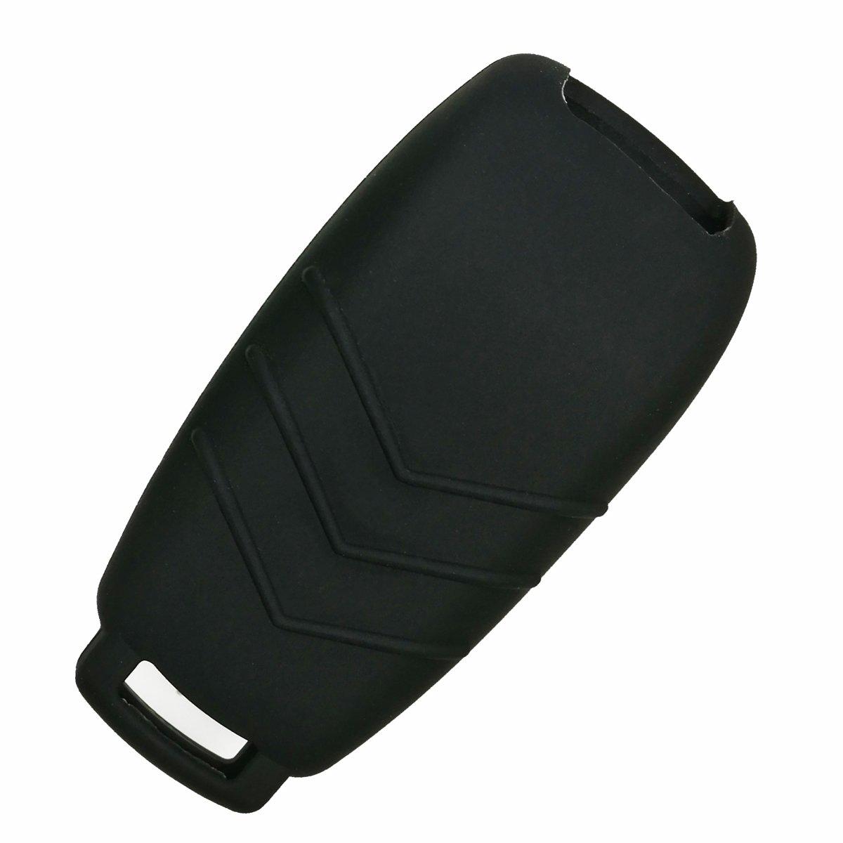 2Pcs Black clase C coolbestda silicona 3/Botones Smart Key Fob Funda Mando a distancia pantalla sin llave chaqueta para 2016/2017/Mercedes Benz W213/E-Class E200/E300/E350