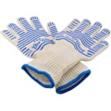 Heat Resistant Gloves for BBQ Oven Grill Cooking Baking Extreme Heat Resistant Gloves-1 pair long