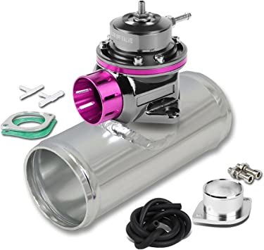 "TYPE RS PURPLE TURBO CHARGER BOV BLOW OFF VALVE+2.5/""ALUMINUM FLANGE ADAPTER PIPE"