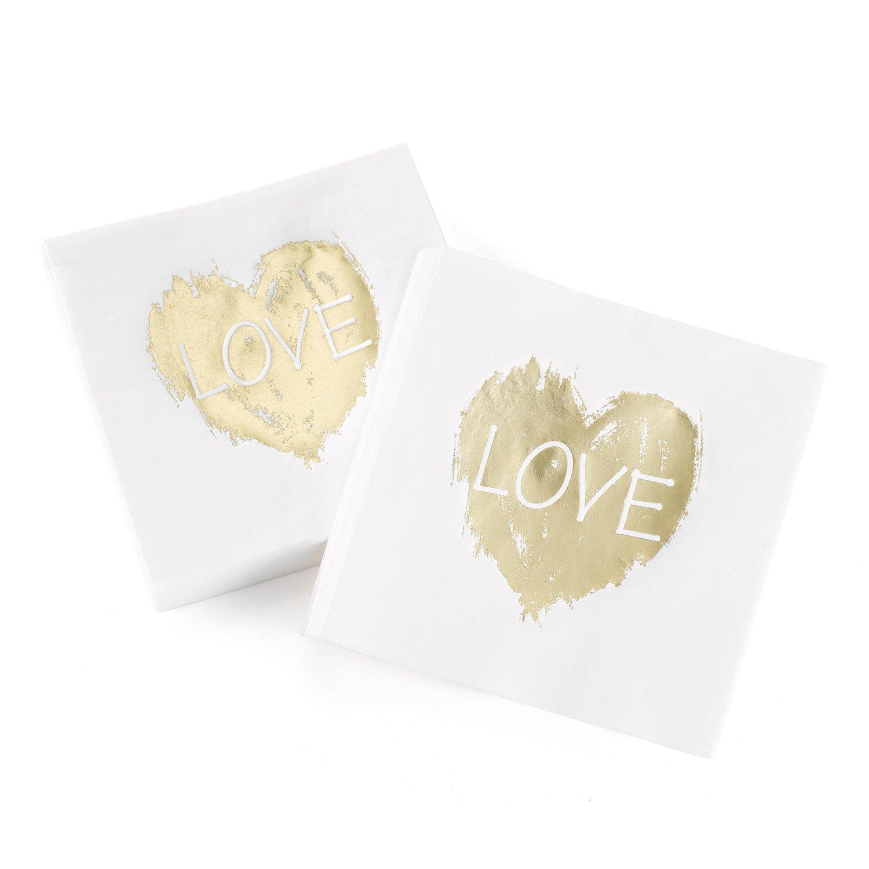 Hortense B Hewitt 50 Count Brush of Love Napkins Gold 21552