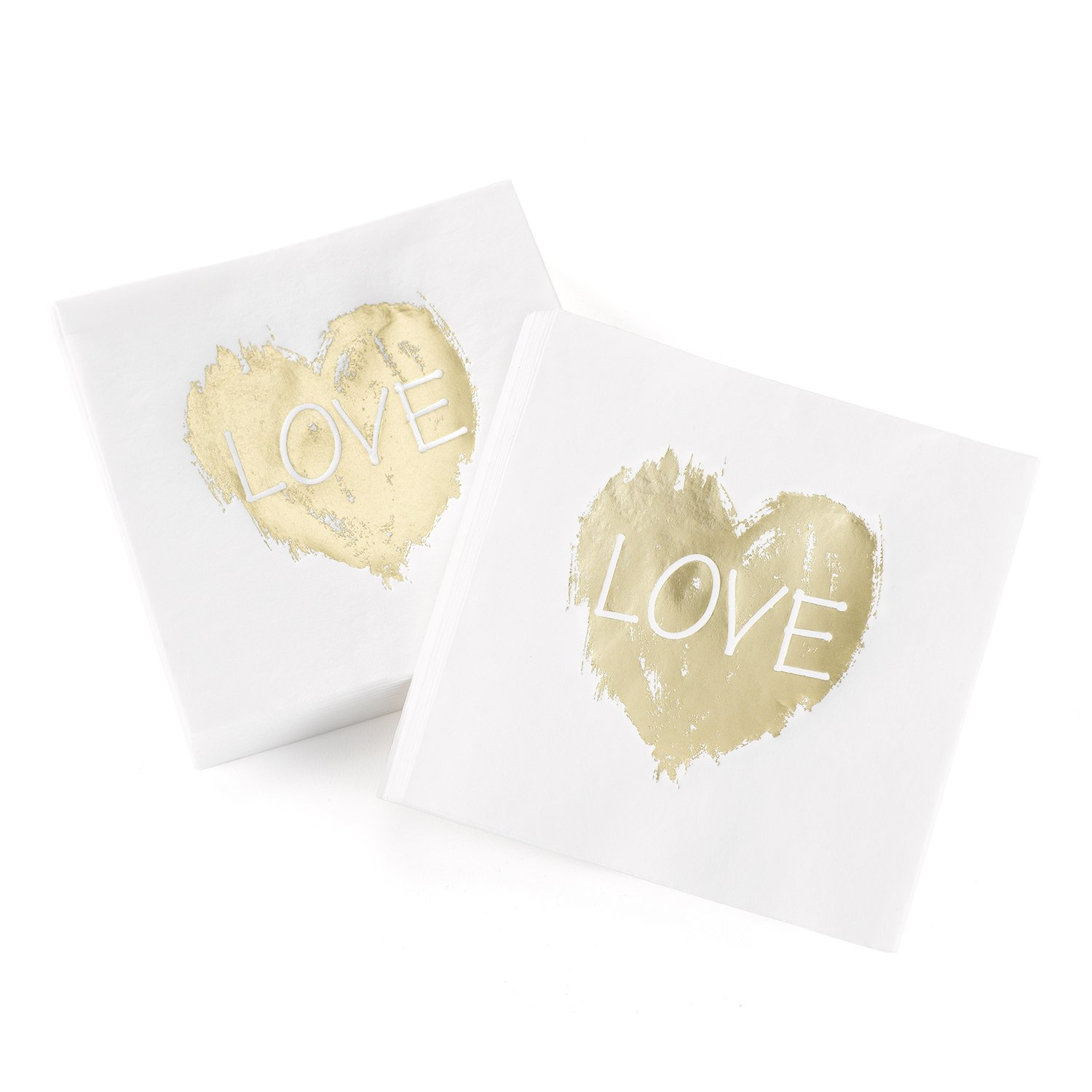 Hortense B. Hewitt 50 Count Brush of Love Napkins, Gold by Hortense B. Hewitt (Image #1)